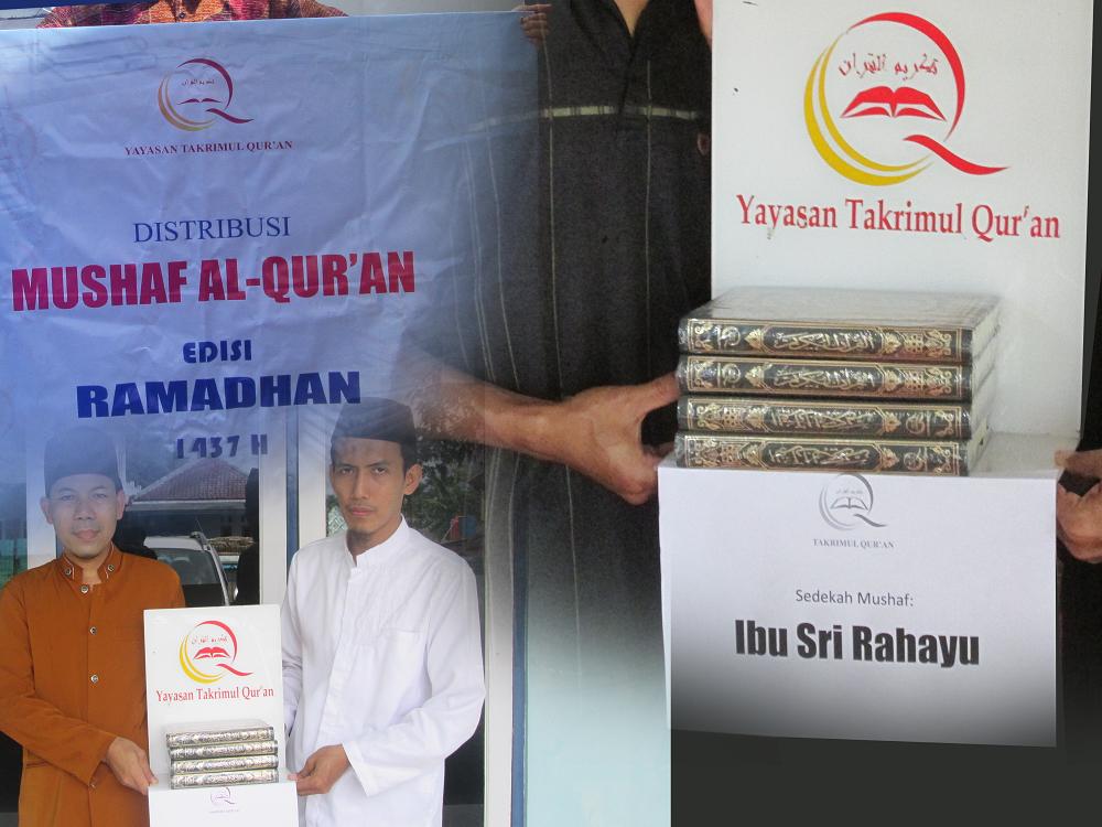 Distribusi Mushaf Juni_Ramadhan 1437 H