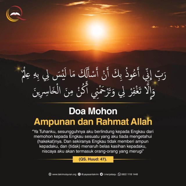 Doa Ampunan dan Rahmat Alloh Takrimul Quran