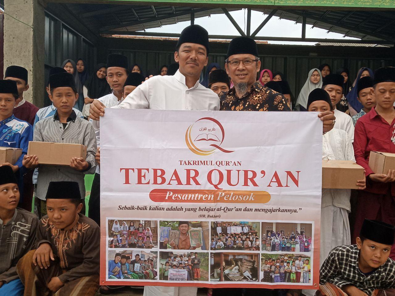 Distribusi Al-Quran untuk Pesantren Qr'an Al-Bayan Kab Bogor
